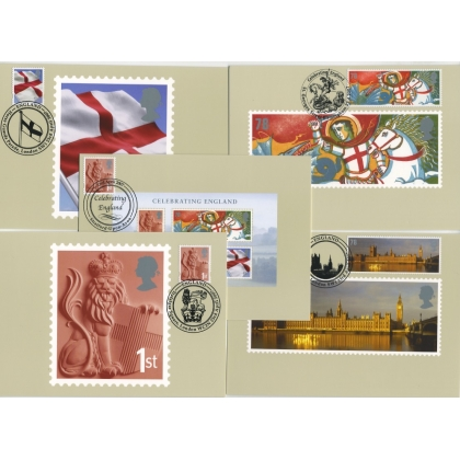 2733 Celebrating England 2007 PHQ Stamp Card set special postmarks
