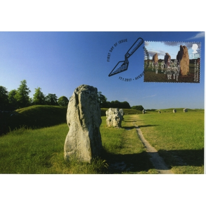 3916x2 Avebury Stone Circle World Heritage Site Maximum Card 2