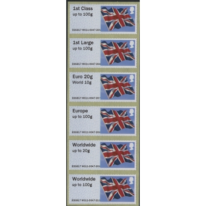 FS09m Union Flag Faststamps M/c M011 Ministry of Defence Abbey Wood