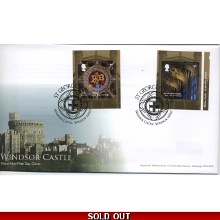 3927-8 Windsor Castle FDC pair of self..