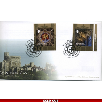 3927-8 Windsor Castle FDC pair of self-adhesive stamps