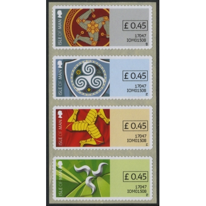 FSM01 Isle of Man machine-vended stamps Triskelion 2017