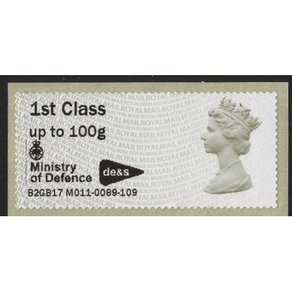 FV21 Machin Faststamps M011 Min of Defence Abbey Wood with Logo