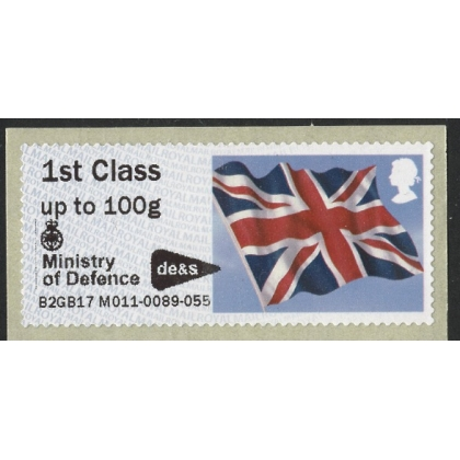 FV21a Union Flag Faststamps M/c M011 Min of Defence Abbey Wood with logo