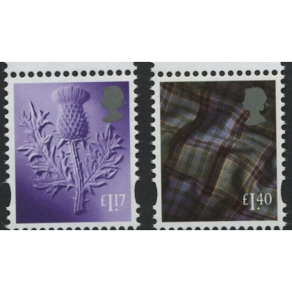 S138+145 £1.17 & £1.40 Scotland 2017 - incl cylinder & date blocks