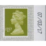 3157 £1.57 Machin Definitive 2017 on S..