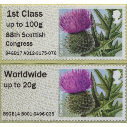 FV24 Thistle digital print Post & Go stamp MA17 Perth Congress 2017
