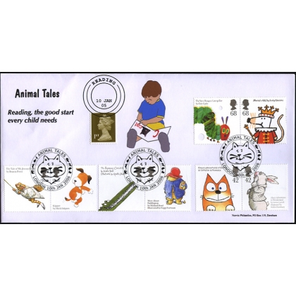 2589n61d Animal Tales on Norvic limited edition double-dated fdc 2006