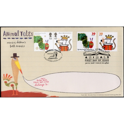 2589j Animal Tales GB-US Joint Issue pairs on Royal Mail fdc 2006