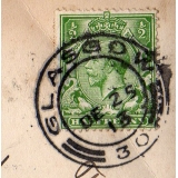 Glasgow Christmas Day postmarks on gre..