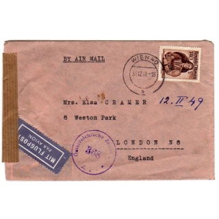 Austria - England censored cover 1948