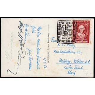 Austria 1951 PC with Schmidt stamp, Sa..