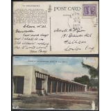 USA 3c Victory stamp on postcard to En..