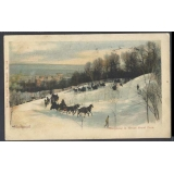 Montreal 1905 card Sleighing in Mount ..