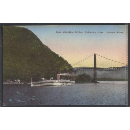 Bear Mountain Bridge Hudson River colour postcard