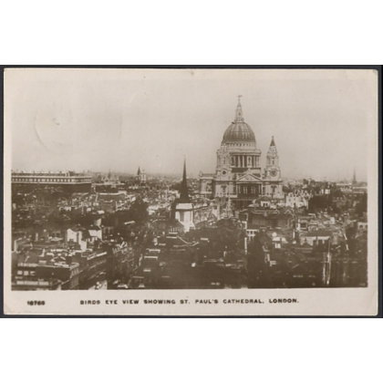 St Paul's Cathedral and City of London real photographic card