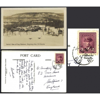 Seigniory Club, P Q, photographic card..