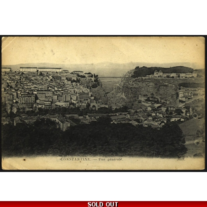 Algeria: General view of Constantine postcard 1922
