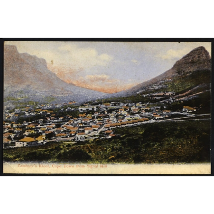 South Africa: Tamboer's Kloof, Cape Town colour postcard