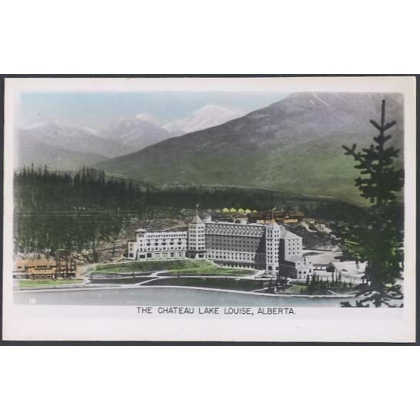 Chateau Lake Louise, Alberta photographic postcard