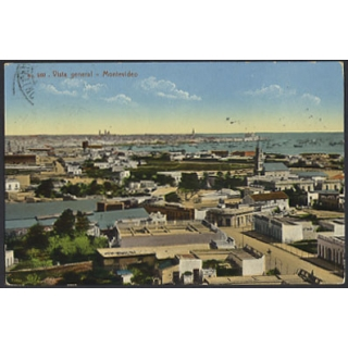 Uruguay: general view of Montevideo co..