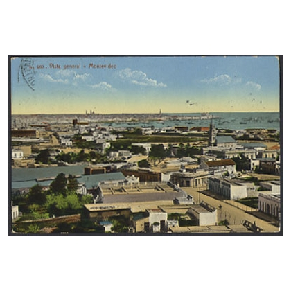 Uruguay: general view of Montevideo colour postcard