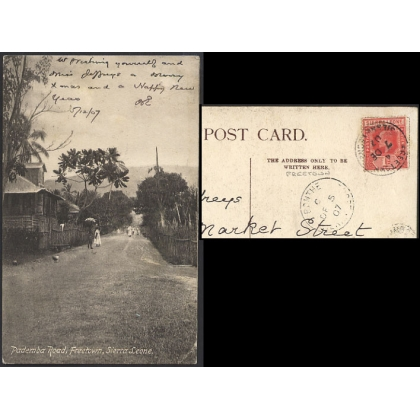 Sierra Leone: Pademba Road, Freetown, 1907 postcard