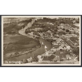 Norfolk Broads aerial photographic card