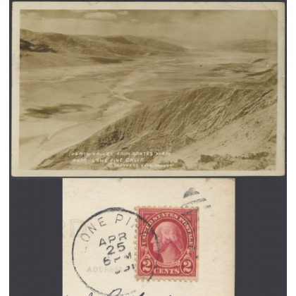 1931 RP card of Death Valley, postmark LONE PINE