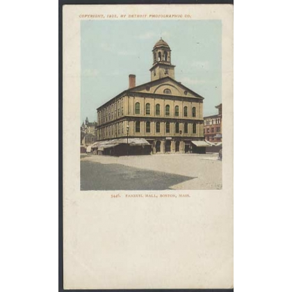 Faneuil Hall, Boston, Mass early postcard