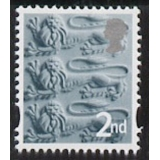 EN 6 2nd class England stamp with whit..