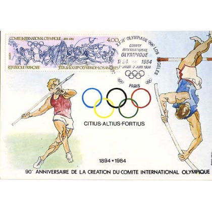M484 France: Los Angeles Olympics Maximum Card 1984