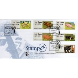 FS07hf Pigs Faststamps 6x1st Stampex FDC
