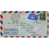 Canary Is to England 1951 airmail