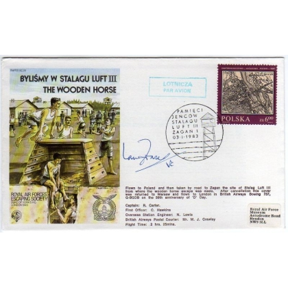 Wooden Horse Commemorative cover signed Ian Fraser VC