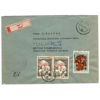 Romania registered cover to West Germa..