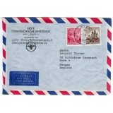 Austria banking airmail cover to Engla..