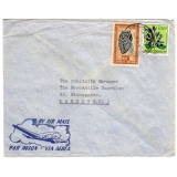 Belgian Congo airmail to London 1955