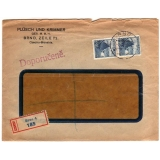Czechoslovakia registered cover to USA..