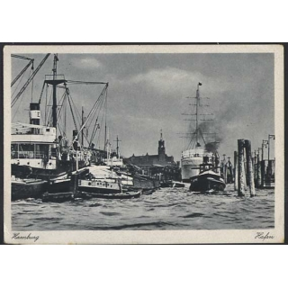 Hamburg Harbour postcard