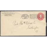 USA 2c stationery envelope Detroit 1898