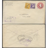USA uprated 2c stationery envelope 192..