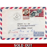 Dahomey underpaid airmail cover to Swi..