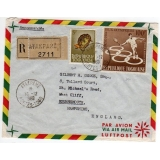 Togo registered airmail to England 1966