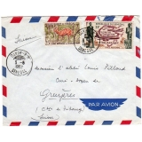 Senegal cover to Switzerland 1962