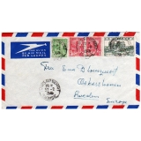 Tunisia airmail to Sweden 1949