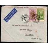Madagascar OHBMS airmail cover to Sout..