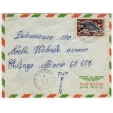 Ivory Coast airmail cover to USA 1968
