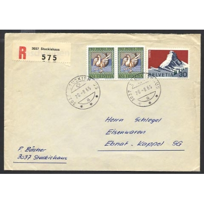 Switzerland Stuckishaus 1965 registered internal letter