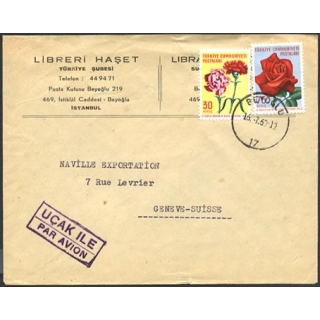 Turkey airmail to Switzerland 1960